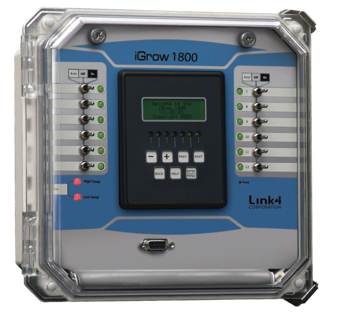The iGrow 1800 for the Ultimate Control of a Greenhouse or Indoor Garden